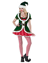 cheap -Santa Suit Cosplay Costume Sexy Uniforms Women's Terylene Cosplay Accessories Christmas / Carnival Costumes / Hat