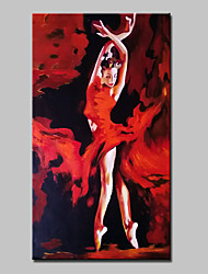 cheap -Oil Painting Hand Painted - People Abstract Portrait Modern Stretched Canvas