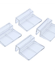 cheap -4 Professional Clear 8mm Acrylic Aquarium Fixing Cover Clip Clamp Support Holder