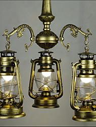 Недорогие -3-Light 48cm(18.1inch) LED Подвесные лампы Металл Стекло Окрашенные отделки Традиционный / классический 110-120Вольт / 220-240Вольт
