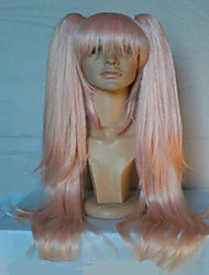 cheap -Synthetic Wig Straight Straight With Ponytail Wig Pink Pink Synthetic Hair Women's Pink hairjoy
