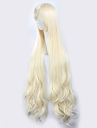 cheap -kagerou project sakura jasmine light golden yellow long curly hair halloween wigs synthetic wigs costume wigs Halloween