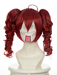 cheap -vocaloid series holic teto mixed red curly two ponytails halloween wigs synthetic wigs costume wigs Halloween