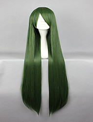 cheap -Synthetic Wig Cosplay Wig Straight Straight Wig Green Synthetic Hair Women's Green hairjoy