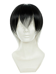 cheap -tokyo ghoul ken kaneki black and white gradient short halloween wigs synthetic wigs costume wigs Halloween