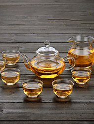 cheap -1PC Slap-Up Atmospheric Family Entertainment Glass Tea set Seven-Piece Cup Teapot