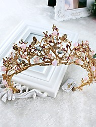 cheap -Imitation Pearl / Rhinestone / Alloy Crown Tiaras / Headwear with Floral 1pc Wedding / Special Occasion / Casual Headpiece