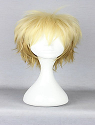 cheap -Synthetic Wig Bakugou Katsuki Deku My Hero Academia Boko No Hero Curly Curly Wig Blonde Yellow Synthetic Hair Women's Blonde hairjoy