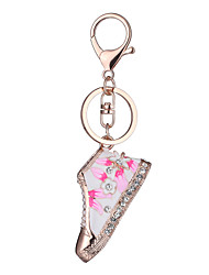 cheap -Keychain Personalized Geometric Unique Design Logo Style Fashion Cute Rhinestone Ring Jewelry Blue / Pink For