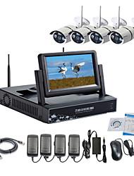 abordables -Caméra IP sans fil strongshine® avec 960p infrarouge étanche et NVR avec kits combo LCD de 7 pouces
