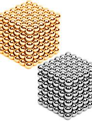 Недорогие -2*216 pcs 3mm Магнитные игрушки Магнитные шарики Конструкторы Сильные магниты из редкоземельных металлов Неодимовый магнит Головоломка Куб Металлические / Магнитный