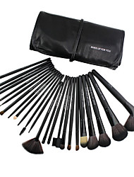 cheap -Professional Makeup Brushes Eyeshadow Brush 24 Portable Professional Synthetic Hair Wood for