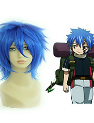cheap -anime hot fairy tail the smith s costume wig bright blue short straight cosplay wig Halloween