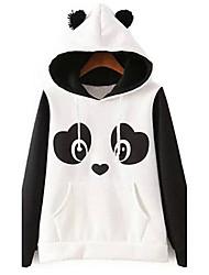 cheap -Women's Maternity Hoodie Color Block Hoodies Sweatshirts  Cotton White / Fall / Winter