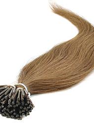 Недорогие -Febay Fusion / с I-образным кончиком Расширения человеческих волос Прямой Натуральные волосы 1 комплект Светло-русый