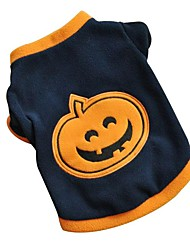 cheap -Cat Dog Shirt / T-Shirt Winter Dog Clothes Dark Blue Costume Polar Fleece Pumpkin Halloween XS S M L