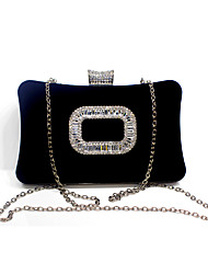 cheap -Women's Crystal / Rhinestone Velvet Evening Bag Rhinestone Crystal Evening Bags Solid Colored Black / Camel / Purple / Fall & Winter
