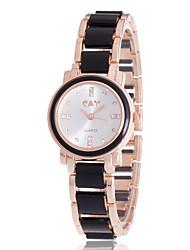 cheap -Women's Bracelet Watch Simulated Diamond Watch Diamond Watch Quartz Black / White Cool Imitation Diamond / Analog Ladies Charm Casual Fashion - White Black One Year Battery Life / Jinli 377