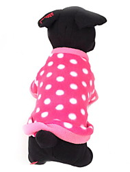 cheap -Dog Sweater Dog Clothes Polka Dot Rose Polar Fleece Costume For Winter Women's Casual / Daily Keep Warm