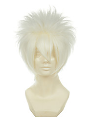 cheap -hitman reborn sakata gintoki byakuran gesso white versatile towering short halloween wigs synthetic wigs costume wigs Halloween