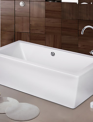 cheap -Contemporary Art Deco/Retro Modern Tub And Shower Waterfall Widespread Floor Standing Ceramic Valve Two Handles One Hole Chrome, Bathtub