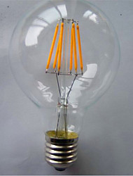 cheap -1pc 6 W LED Filament Bulbs 500 lm E26 / E27 G80 6 LED Beads COB Decorative Warm White 220-240 V / 1 pc / RoHS