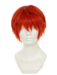 cheap -Synthetic Wig Cosplay Wig Straight Straight Wig Red Synthetic Hair Women's Red