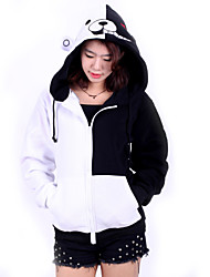 cheap -Inspired by Dangan Ronpa Monokuma Video Game Cosplay Costumes Cosplay Hoodies Patchwork Long Sleeve Coat Costumes