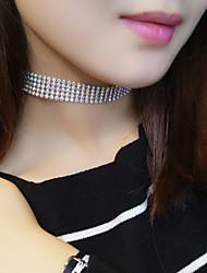 cheap -Women's Tattoo Choker Tattoo Style European Fashion Rhinestone White Rainbow Necklace Jewelry For Wedding Party Daily Casual