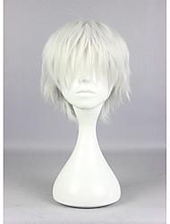 cheap -popular tokyo ghoul ken kaneki 30cm short silvery grey high quality synthetic cosplay wig Halloween