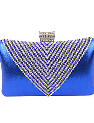 cheap -Women's Crystal / Rhinestone Velvet Evening Bag Solid Colored Black / Golden / Silver