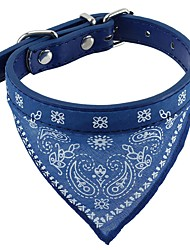 cheap -Cat Dog Collar Soft Bandanas Hands free Casual Cosplay Solid Colored PU Leather Fabric Black Red Blue