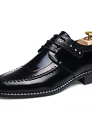 cheap -Men's Formal Shoes Patent Leather Spring / Fall Business Oxfords Black / Light Brown / Burgundy / Lace-up / Leather Shoes / Dress Shoes / Fashion Boots / EU42