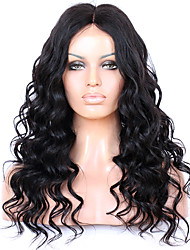 cheap -Remy Human Hair Glueless Lace Front Lace Front Wig style Brazilian Hair Wavy Wig 130% 150% 180% Density 8-22 inch with Baby Hair Natural Hairline African American Wig 100% Hand Tied Women's Short
