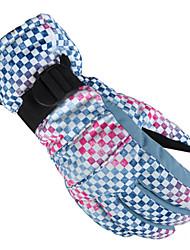 cheap -Ski Gloves Men's Women's Unisex Snowsports Winter Waterproof Windproof Fleece Lining Fleece Nylon Cotton Ski / Snowboard Cycling / Bike