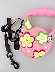 cheap -Dog Leash Adjustable / Retractable Flower Nylon Red Pink Green Light Blue