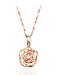 cheap -Women's Crystal Pendant Necklace Hollow Out Crossover Roses Flower Ladies Personalized Tassel Bohemian Crystal Alloy Gold Silver Necklace Jewelry For Wedding Party Daily Casual Sports