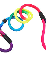 cheap -Dog Leash Adjustable / Retractable Solid Colored Nylon Rainbow