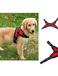 cheap -Dog Harness Adjustable / Retractable Vest Solid Colored Mesh Purple Red Blue