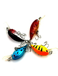 cheap -1 pcs Crank Fishing Lures Crank 3D Sinking Bass Trout Pike Bait Casting Hard Plastic