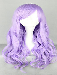cheap -Synthetic Wig Cosplay Wig Wavy Wavy With Bangs Wig Very Long Purple Synthetic Hair Women's Side Part Purple hairjoy