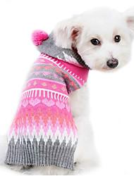 cheap -Dog Sweater Hoodie Winter Dog Clothes Christmas Costume Woolen Stripes Keep Warm XXS XS S M L