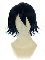 cheap -k saruhiko fushimi dark blue black versatile turned alice halloween wigs synthetic wigs costume wigs Halloween