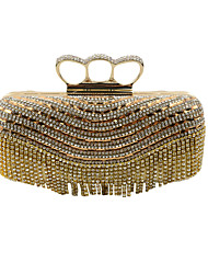 cheap -Women's Crystal / Rhinestone Special Material Evening Bag Solid Colored Golden / Black / Silver