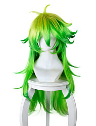 cheap -black and white to the detention center 25 niko yellow gradient green anti alice cosplay long hair Halloween