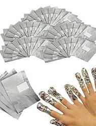 cheap -100pcs nail cotton piece of methyl tin foil convenient and swift 1set