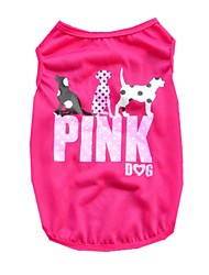 cheap -Cat Dog Shirt / T-Shirt Vest Puppy Clothes Animal Fashion Birthday Holiday Casual / Daily Keep Warm Birthday Winter Dog Clothes Puppy Clothes Dog Outfits Purple Green Rose Costume for Girl and Boy Dog