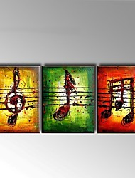 cheap -Oil Painting Hand Painted Abstract Still Life Modern European Style Canvas Three Panels 20*30cm/piece