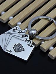 Недорогие -удачи в покер флеш брелок для ключей металлические творческие автомобиль мужские аксессуары Ключевые