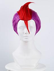 Недорогие -Парики из искусственных волос Маскарадные парики Прямой Прямой силуэт Парик Фиолетовый Искусственные волосы Жен. Фиолетовый OUO Hair